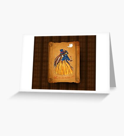 Who is the Mad Hatter ? Beauty and the Beast Greeting Card