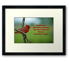 God is our Security Guard Framed Print