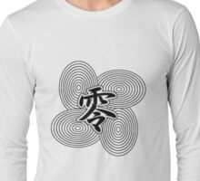 Zero Japanese Kanji T-shirt Long Sleeve T-Shirt