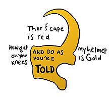Loki's Helmet Poem :3 by moriartydraws