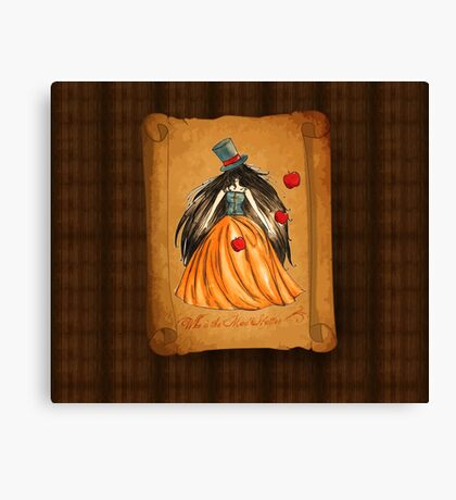 Who is the Mad Hatter ? Snow White  Canvas Print