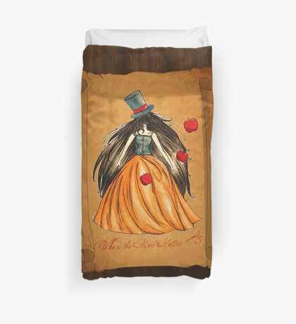 Who is the Mad Hatter ? Snow White  Duvet Cover
