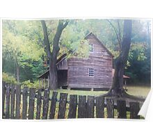 Cades Cove Homestead in Smoky Mountains National Park Poster