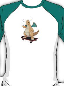 Dragonite on a skateboard T-Shirt