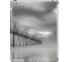 Fingal Sand Pumping Jetty in B&W NSW Australia iPad Case/Skin