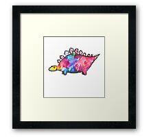 Mrs Splatosaurus Framed Print