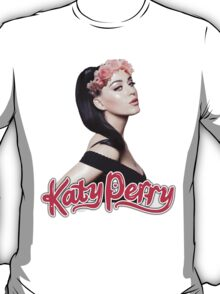 KATY PERRY W/ FLOWER CROWN T-Shirt