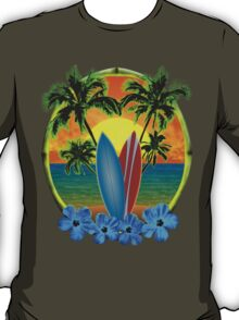 Sunset And Surfboards T-Shirt