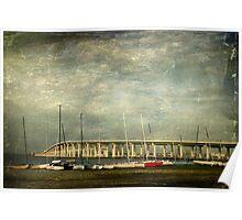 Bridge and Boats Poster