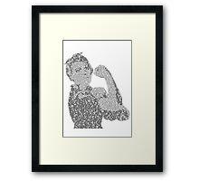 Rosie the Riveter - Black&White Framed Print