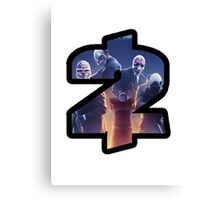 Payday 2 Logo Design #1 Canvas Print