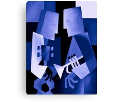 TWO FOR THE BLUES Canvas Print
