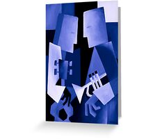 TWO FOR THE BLUES Greeting Card