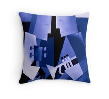 TWO FOR THE BLUES Throw Pillow