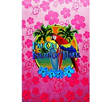 Pink Hibiscus Island Time Sunset Photographic Print