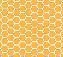 Orange honeycomb pattern by limitlezz