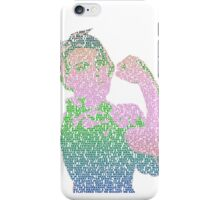 Rosie the Riveter - Stereotype gender colors iPhone Case/Skin