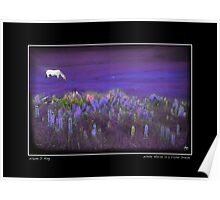 White Horse in a Violet Dream Poster Poster