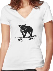 Hot Dawg! Women's Fitted V-Neck T-Shirt