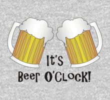 It's Beer O'Clock Funny Pint Glasses by CreativeTwins