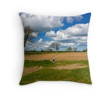 Charlie in the Field Throw Pillow