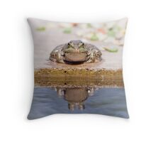 Lonley Frog Throw Pillow