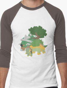 Turtwig Evolution Men's Baseball ¾ T-Shirt