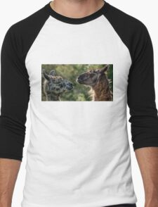 Sweet Llamas Men's Baseball ¾ T-Shirt