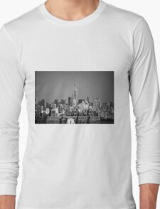 Empire State Building from Brooklyn Bridge Long Sleeve T-Shirt