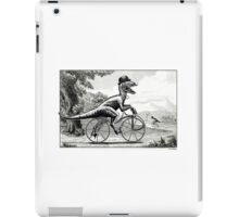 Velociraptor on a Velocipede iPad Case/Skin