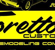 Toretto's customs Sticker