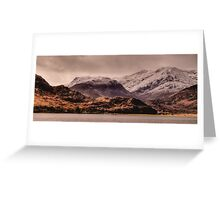 Snowy Mountains, Kintail, Scotland Greeting Card