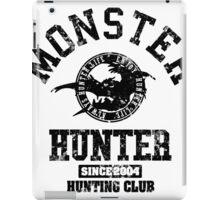 Monster Hunter - Hunting Club (dark grunge effect) iPad Case/Skin
