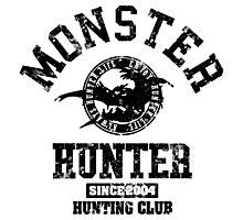 Monster Hunter - Hunting Club (dark grunge effect) Photographic Print