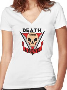 Death from above Women's Fitted V-Neck T-Shirt