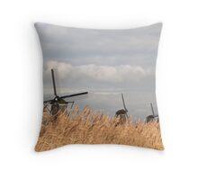Windmills at Kinderdike Throw Pillow