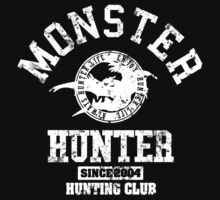 Monster Hunter - Hunting Club (white grunge effect) by riccardo08