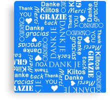 Thank You in Many European Languages Canvas Print