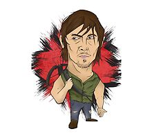 The Walking Dead - Daryl illustration  by Marcus Lane illustration