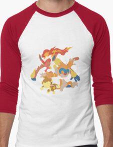 Chimchar Evolution Men's Baseball ¾ T-Shirt