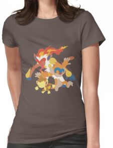 Chimchar Evolution Womens Fitted T-Shirt
