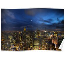 On top of the Rock by nightfall Poster