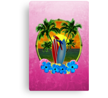 Tropical Sunset Pink Canvas Print