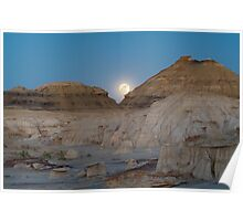 Full Moon in the Bisti Poster