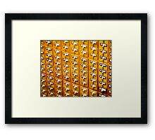 Library Card Catalogs Framed Print