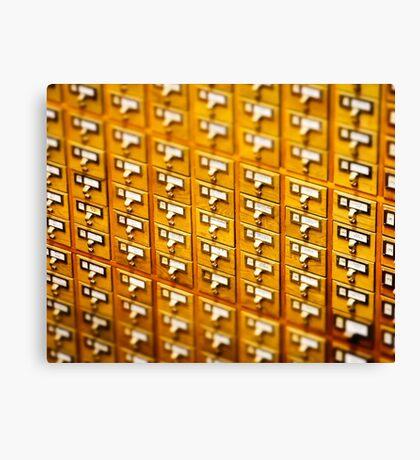 Library Card Catalogs Canvas Print