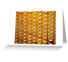 Library Card Catalogs Greeting Card