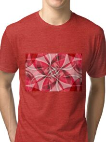 Red Gauze Abstract Tri-blend T-Shirt