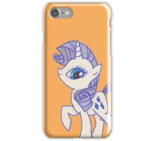 Notecard Ponies #5: Rarity iPhone Case/Skin