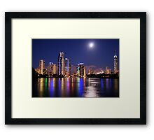 Gold Coast Neon Colours  Framed Print